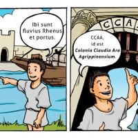Lateinschulbuch Beispielillustration