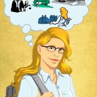 Illustration Studentin