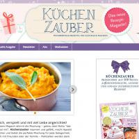 """Design für die Webpräsenz des Magazins """"Küchenzauber"""""""